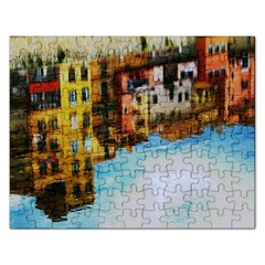 Architecture Art Blue Rectangular Jigsaw Puzzl