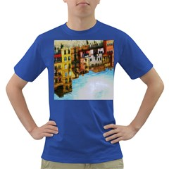 Architecture Art Blue Dark T Shirt