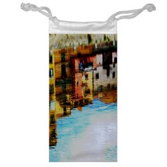Architecture Art Blue Jewelry Bag
