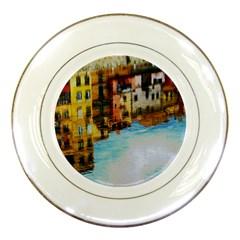 Architecture Art Blue Porcelain Plates