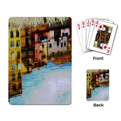 Architecture Art Blue Playing Card