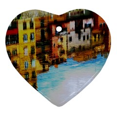 Architecture Art Blue Heart Ornament (two Sides)