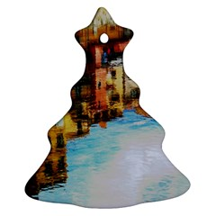 Architecture Art Blue Christmas Tree Ornament (two Sides)