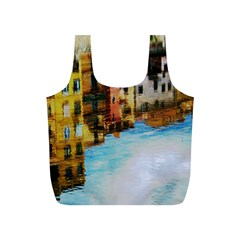 Architecture Art Blue Full Print Recycle Bags (s)