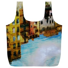 Architecture Art Blue Full Print Recycle Bags (l)