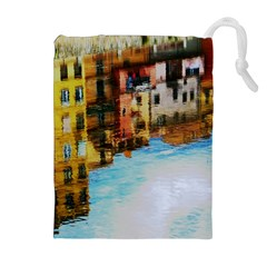 Architecture Art Blue Drawstring Pouches (extra Large) by Modern2018