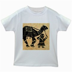 Antique Apparel Art Kids White T Shirts