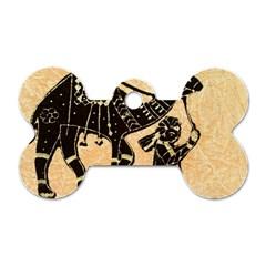 Antique Apparel Art Dog Tag Bone (one Side)