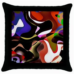 Abstract Full Colour Background Throw Pillow Case (black)