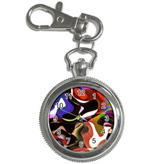 Abstract Full Colour Background Key Chain Watches by Modern2018