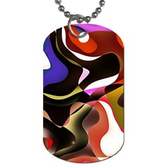 Abstract Full Colour Background Dog Tag (one Side)