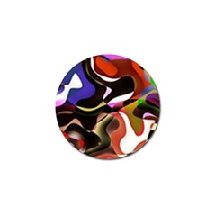 Abstract Full Colour Background Golf Ball Marker