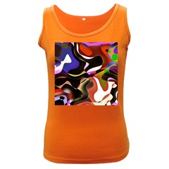 Abstract Full Colour Background Women s Dark Tank Top
