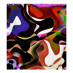 Abstract Full Colour Background Shower Curtain 66  X 72  (large)