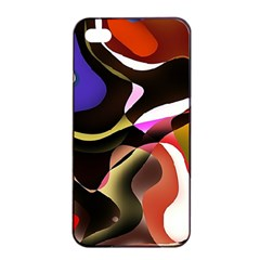 Abstract Full Colour Background Apple Iphone 4/4s Seamless Case (black)