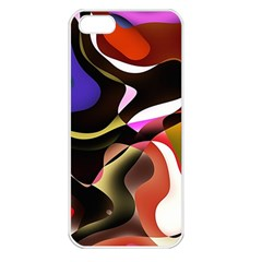 Abstract Full Colour Background Apple Iphone 5 Seamless Case (white)