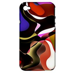 Abstract Full Colour Background Apple Iphone 4/4s Hardshell Case (pc+silicone)