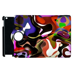 Abstract Full Colour Background Apple Ipad 3/4 Flip 360 Case