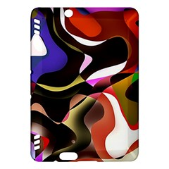Abstract Full Colour Background Kindle Fire Hdx Hardshell Case