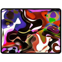 Abstract Full Colour Background Double Sided Fleece Blanket (large)