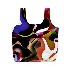 Abstract Full Colour Background Full Print Recycle Bags (m)