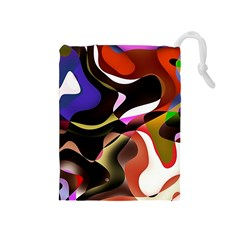 Abstract Full Colour Background Drawstring Pouches (medium)