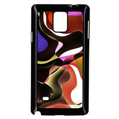Abstract Full Colour Background Samsung Galaxy Note 4 Case (black)
