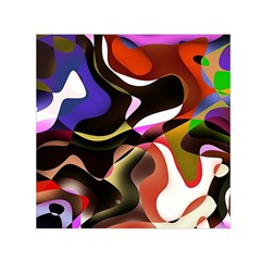 Abstract Full Colour Background Small Satin Scarf (square)