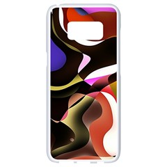 Abstract Full Colour Background Samsung Galaxy S8 White Seamless Case