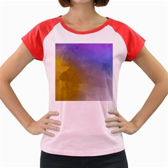 Abstract Smooth Background Women s Cap Sleeve T Shirt