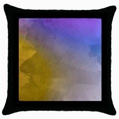 Abstract Smooth Background Throw Pillow Case (black)