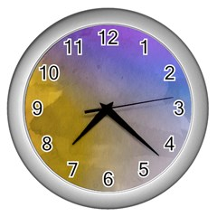 Abstract Smooth Background Wall Clocks (silver)