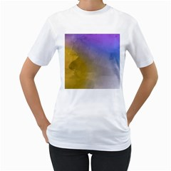 Abstract Smooth Background Women s T Shirt (white)