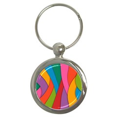 Abstract Background Colrful Key Chains (round)