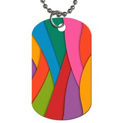 Abstract Background Colrful Dog Tag (two Sides)
