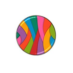 Abstract Background Colrful Hat Clip Ball Marker (4 Pack)