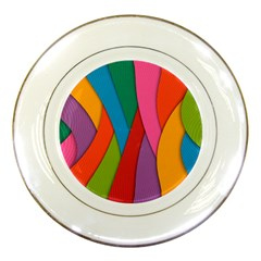 Abstract Background Colrful Porcelain Plates
