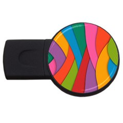 Abstract Background Colrful Usb Flash Drive Round (4 Gb)