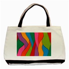 Abstract Background Colrful Basic Tote Bag (two Sides) by Modern2018