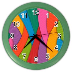 Abstract Background Colrful Color Wall Clocks
