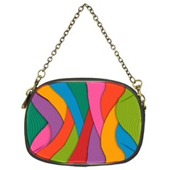 Abstract Background Colrful Chain Purses (one Side)