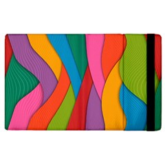 Abstract Background Colrful Apple Ipad 2 Flip Case