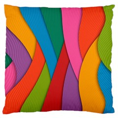 Abstract Background Colrful Standard Flano Cushion Case (one Side)