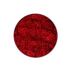 Arranged Flowers Love Rubber Round Coaster (4 Pack)