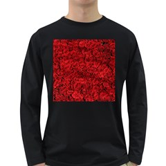 Arranged Flowers Love Long Sleeve Dark T Shirts