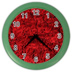 Arranged Flowers Love Color Wall Clocks
