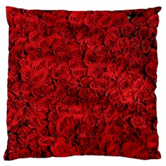 Arranged Flowers Love Large Flano Cushion Case (one Side)