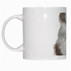 Cutefat Cat  White Mugs by goodart