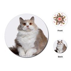 Cutefat Cat  Playing Cards (round)