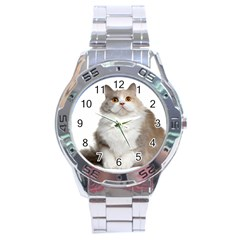Cutefat Cat  Stainless Steel Analogue Watch